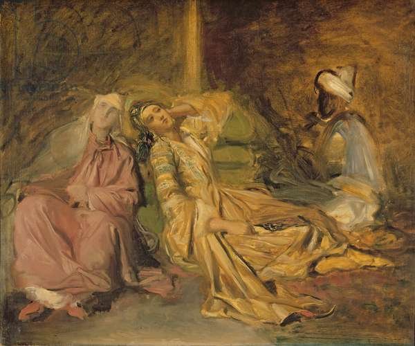 Study for the Interior of a Harem (oil on canvas)