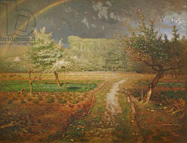 Spring at Barbizon, 1868-73 (oil on canvas)