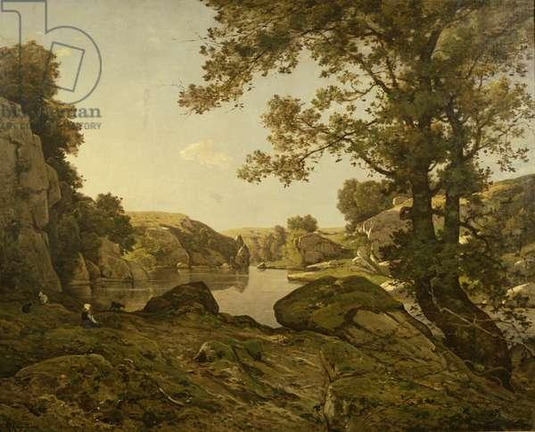 The Wolf Jump (oil on canvas)