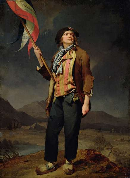 The Singer Chenard, as a Sans-Culotte, 1792 (oil on panel)