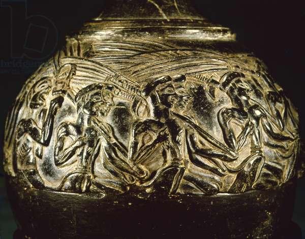 Harvester's Vase, from Hagia Triada, c.1550-1500 BC (steatite)