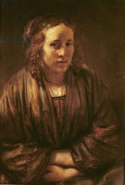 Portrait of Hendrikje Stoffels (oil on canvas)