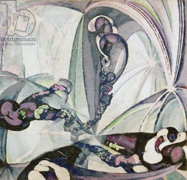 Animated Spaces, 1922 (oil on canvas)