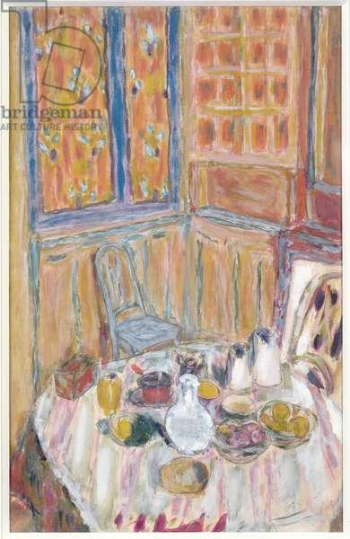 Corner of the Dining Room, c.1930 (gouache on paper)
