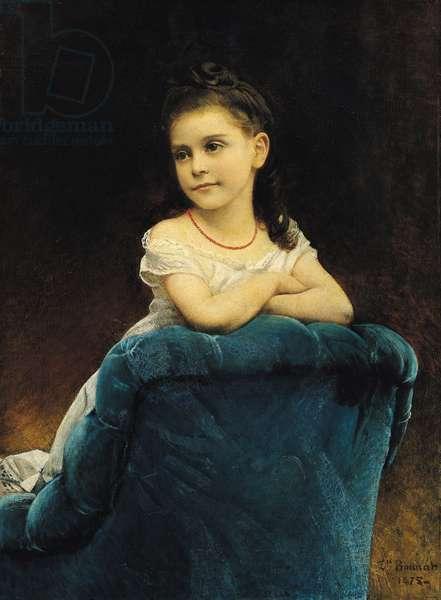 Portrait of Mademoiselle Franchetti, 1877 (oil on canvas)