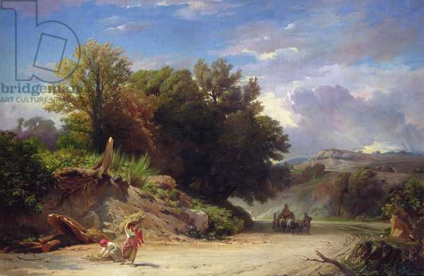 Landscape on the Outskirts of Rome, 1853 (oil on canvas)