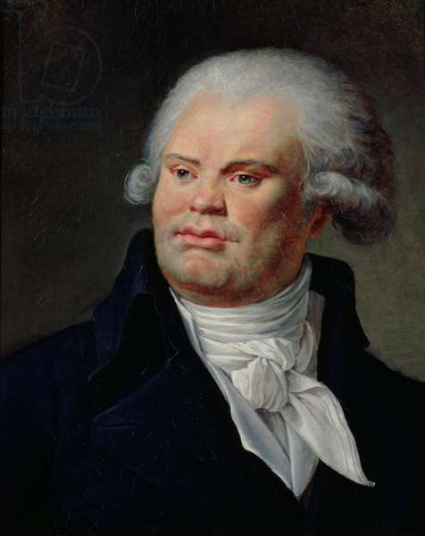 Portrait of Georges Danton (1759-94) (oil on canvas)