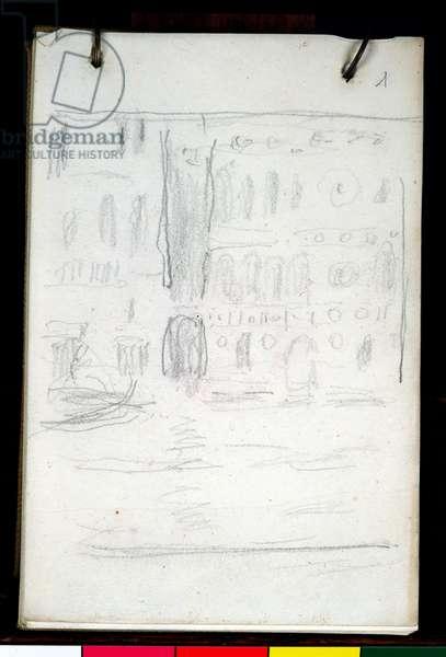 Sketch of Palazzo Dario (pencil on paper)
