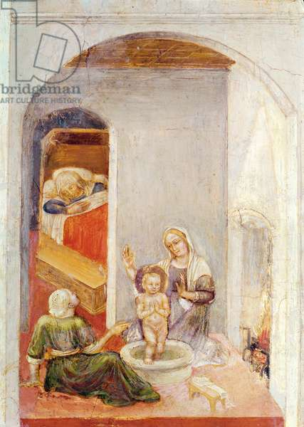 The Birth of St. Nicholas, from Stories of St. Nicholas of Bari, c.1425 (tempera on panel)