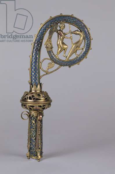 Crozier depicting St. Michael Defeating the Dragon (gold and enamel)