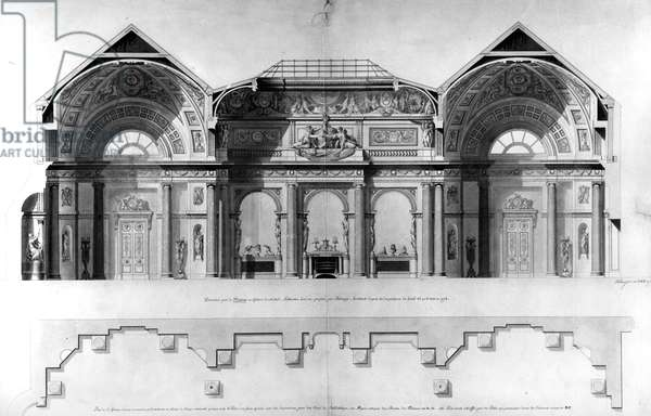 Design for the Gallery of Lansdowne House, London, 1779 (drawing)