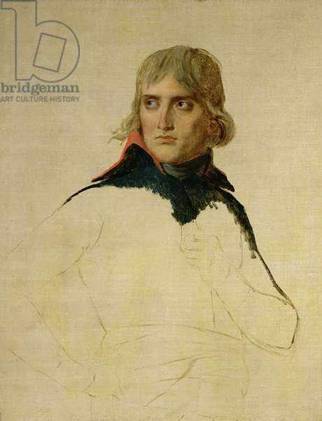 Unfinished portrait of General Bonaparte (1769-1821) c.1797-98 (oil on canvas)