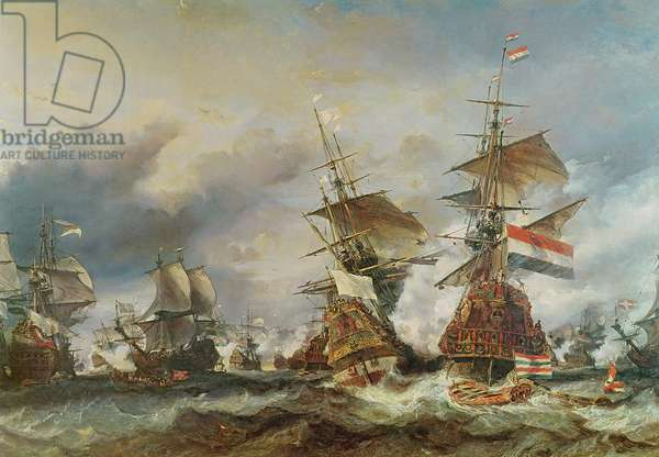 The Battle of Texel, 29 June 1694 (oil on panel)