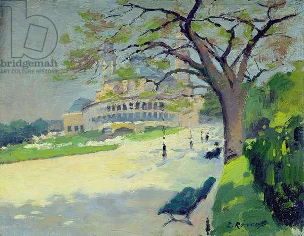 Palais du Trocadero (oil on panel)