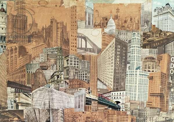 Metropolis, 1923 (collage) (detail of 156583)