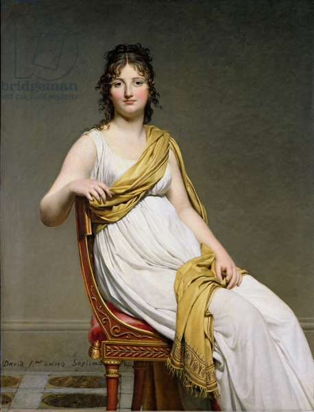 Portrait of Madame Raymond de Verninac (1780-1827) 1798-99 (oil on canvas)