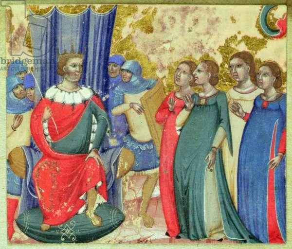 Salome asking Herod for the Head of St. John (vellum)
