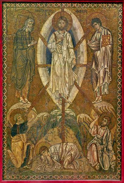 Portable icon depicting the transfiguration, 11th-12th century (mosaic)