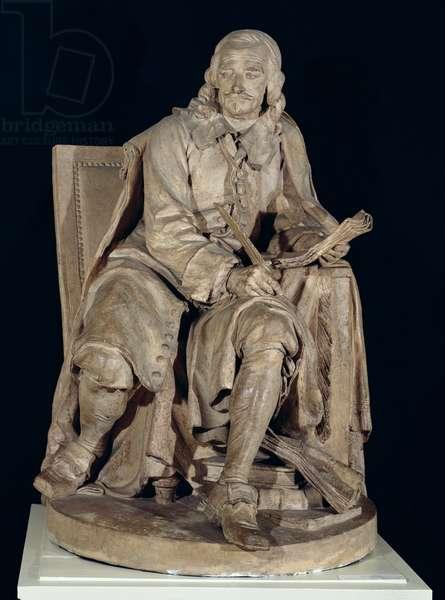 Pierre Corneille (1606-84) Seated (terracotta)