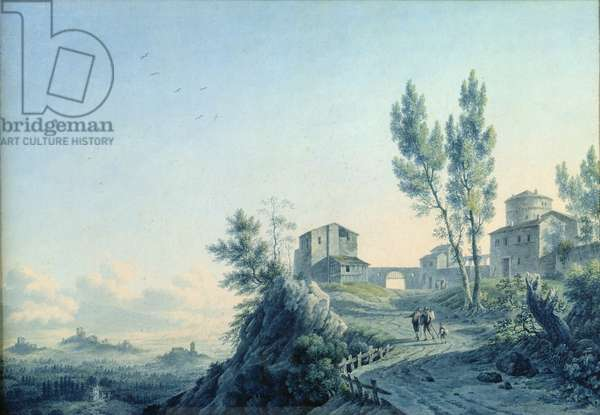 Castello di Lorenzetto, Castagneto, 1803 (w/c on paper)