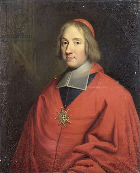 Louis-Antoine de Noailles (1651-1729) Archbishop of Paris (oil on canvas)