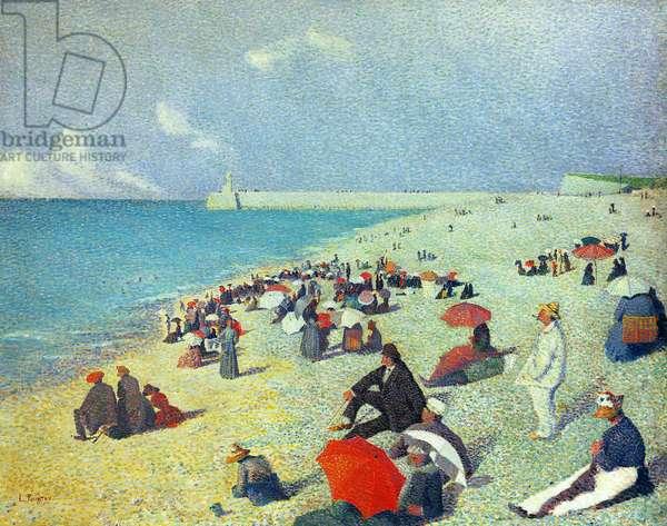 On The Beach (oil on canvas)