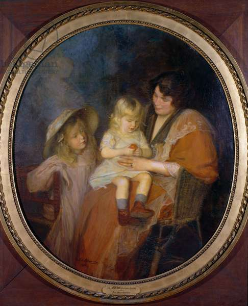 The Mandarin or, Madame Thawlow and her Children (oil on canvas)