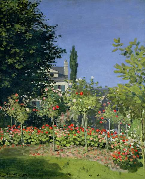 Flowering Garden at Sainte-Adresse, c.1866 (oil on canvas)