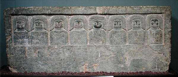 Stela with eight Libyan divinities, from Borj Helal, 2nd-1st century BC (limestone)