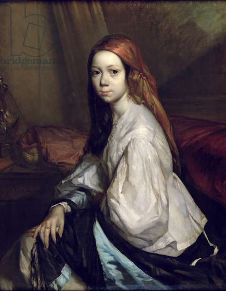 Portrait of Pauline Ono (d.1844) (oil on canvas)
