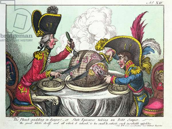 The Plum Pudding in Danger, 1805 (coloured engraving) (see also 152999)