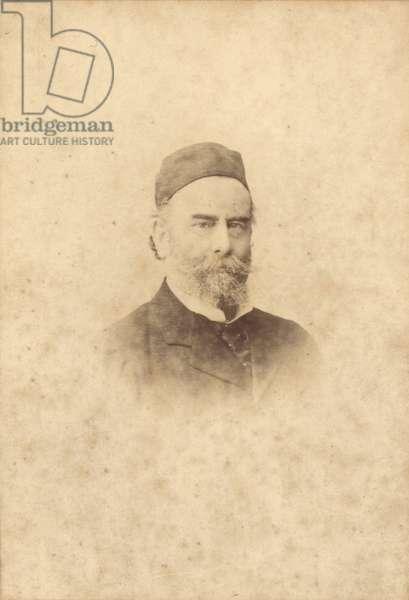 Portrait photograph of Alfred Sisley (1839-99) (sepia photo)