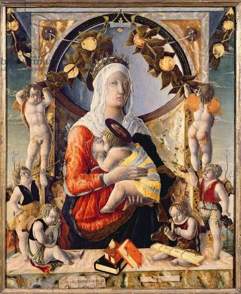The Virgin and Child Surrounded by Eight Angels, 1455 (oil on canvas)