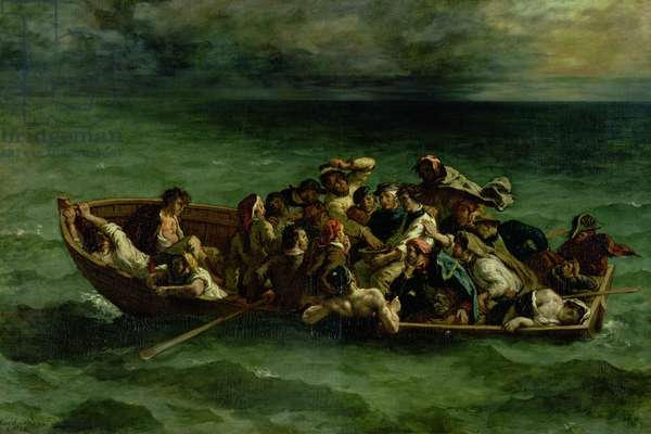 The Shipwreck of Don Juan, 1840 (oil on canvas) (see also 14443)