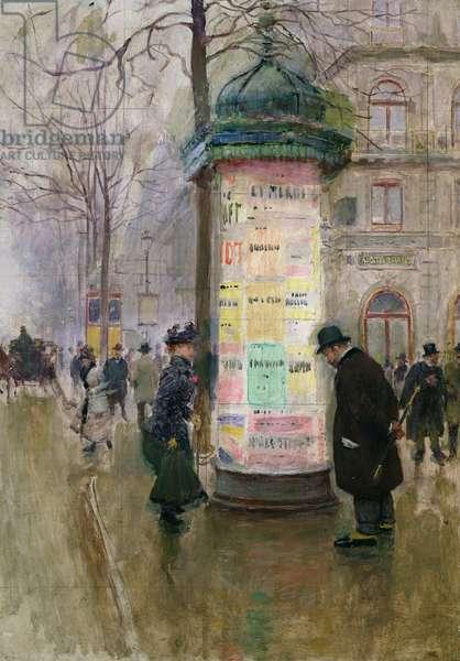 The Colonne Morris, c.1885 (oil on panel)