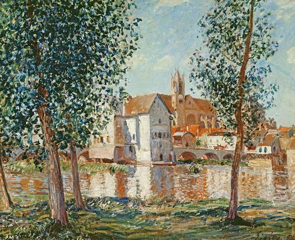The Loing at Moret, September Morning (oil on canvas)