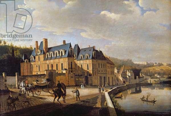 Chateau de la Chaussee near Bougival, 1822 (oil on canvas)