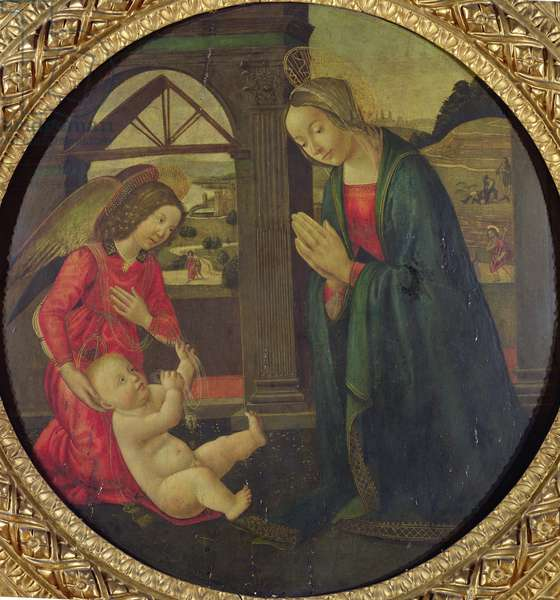 Adoration of the Child (oil on panel)