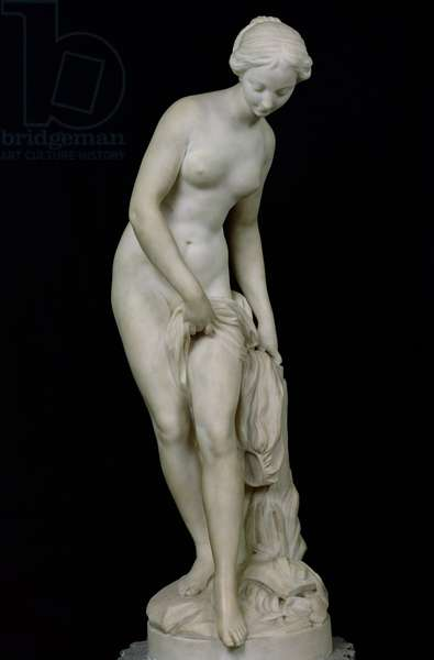 Bather Getting into a Bath, 1757 (marble)