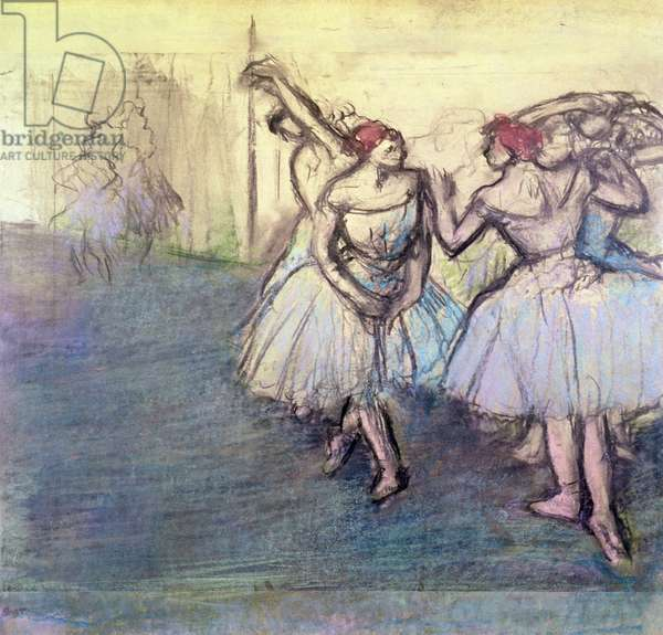The Dancers (pastel on paper)