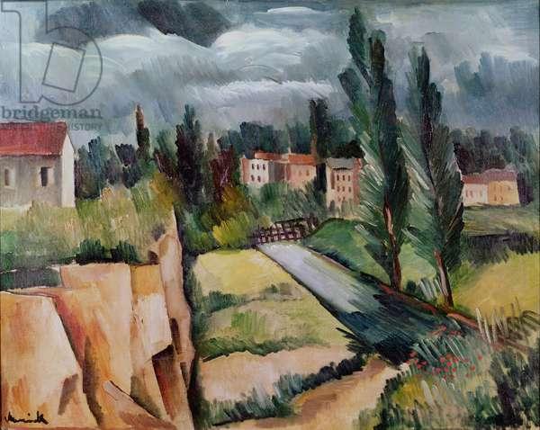 The Poplars, 1910 (oil on canvas)
