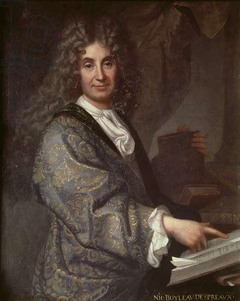 Nicolas Boileau (1636-1711) (oil on canvas)