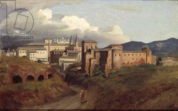 View of St. John Lateran, Rome, 1822 (oil on canvas)