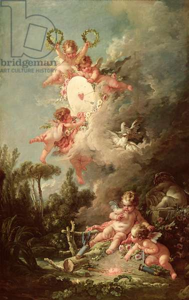 Cupid's Target, from 'Les Amours des Dieux', 1758 (oil on canvas)