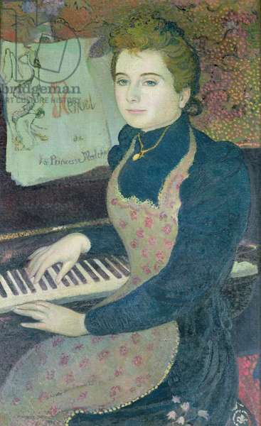 Marthe at the Piano or, Minuet of Princess Maleine, 1891 (oil on canvas)
