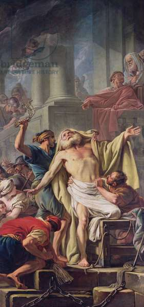 The Flagellation of St. Andrew, 1761 (oil on canvas)