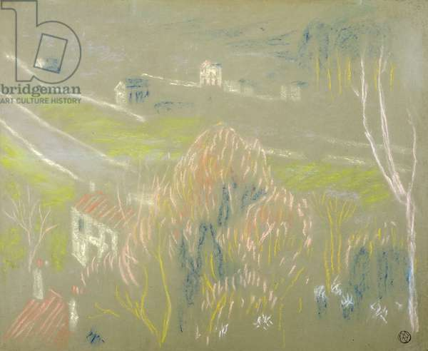The Bottom of the Valley between Saint-Germain and Mareil, 1894 (pastel on paper)
