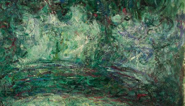 The Japanese Bridge, detail, 1918-19 (oil on canvas) (see also 181501)