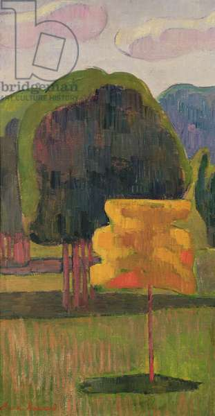 The Yellow Tree, 1888 (oil on canvas)
