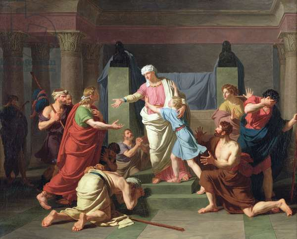 Joseph Recognised by his Brothers, 1789 (oil on canvas)